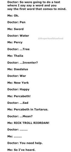 Yay percy jackson this is so me