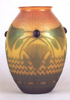 1900 Vase in Egyptian style by Emile Gallé. © Musée de l'Ecole de Nancy. Galle deserves mention as often as Lalique & Tiffiany.