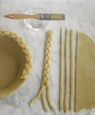 Braided pie crusts