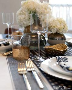 The Marni glasses are by Jayson Home and the Hampshire wine glasses are by Calvin Klein Home.