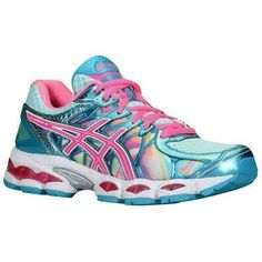 Asics Gel-Nimbus 16 Women's Running Shoes Iridescent/Pink/Capri Blue US Asics Running Shoes, Asics Shoes, Running Sneakers, Running Shoes For Men, Running Women, Running Gear, Capri Blue, Asics Women, Cute Shoes