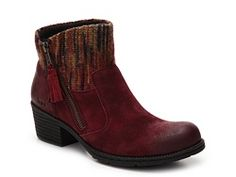 Love these boots!!! Not much of a heel, which is perfect, and I even like the red here.