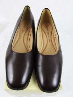Women's Brown Dress Shoes Size 8 Wide Fanfares Leann Pumps Slip-on Heels #Fanfares #PumpsClassics
