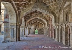 Arches inside Friday Mosque, Lodi Gardens, New Delhi | by Mukul Banerjee (www.mukulbanerjee.com)
