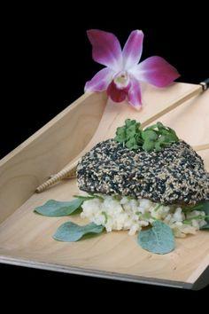 In wasabi gemarineerde tonijn met een verrassende korst