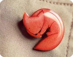 cute little fox pin