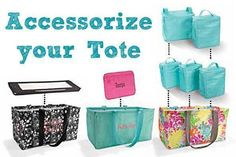Accessories for the Thirty One Large Utility tote.