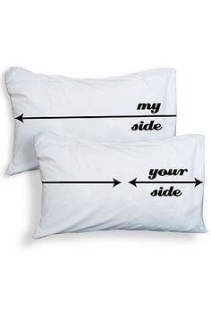 My Side // Your Side Pillow Cases #couples #bedroom #bedding