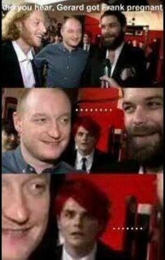 OMG this though, Gerard's face........literally the only reason I'm pinning this is cuz of that face...