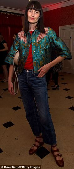 Casually chic: Rachel Riley and Erin O'Connor both rocked stylish yet casually looks for t...