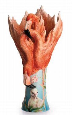 Image detail for -Franz Porcelain Collection - Flamingo Vase Large