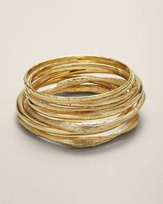 Gold bangles from Chico's
