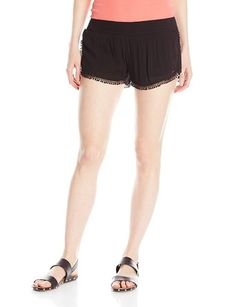 O'Neill Juniors Mona Crinkle Gauze Short with Crochet Trim - Relaxed Shorts http://trendtags.net #fashion #summer2015