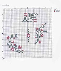 luli: è ora. Cross Stitch Boarders, Cross Stitch Numbers, Cross Stitch Fruit, Cross Stitch Love, Cross Stitch Cards, Cross Stitch Flowers, Cross Stitch Designs, Cross Stitching, Cross Stitch Embroidery