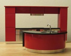 ... kitchen in stunning gloss red with black glass worktops this kitchen