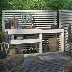 An outdoor kitchen can be an addition to your home and backyard that can completely change your style of living and entertaining. Earlier, barbecues temporarily set up, formed the extent of culinary attempts, but now cooking outdoors has become an. Rustic Outdoor, Outdoor Fire, Outdoor Living, Outdoor Decor, Bbq Table, Bbq Cover, Fire Pit Patio, Backyard For Kids, Outdoor Projects