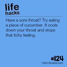 The post – Cucumber Sore Throat Life Hack appeared first on 1000 Life Hacks. Simple Life Hacks, Useful Life Hacks, Health And Beauty Tips, Health And Wellness, Beauty Routine Planner, Sore Throat Remedies, Beauty Hacks Lips, 1000 Life Hacks, Natural Cures