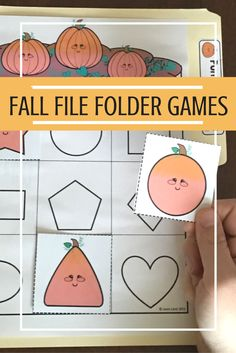 Pumpkin Themed File Folder Activities: Strengthen handwriting, encourage independence and increase shape, letter and number skills.