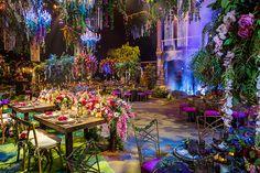 An Enchanting Disneyland Wedding Transformation Enchanted Forest Quinceanera Theme, Enchanted Forest Party, Enchanted Evening, Enchanted Garden Wedding, Disney Wedding Venue, Wedding Venues, Disney Weddings, Wedding Reception, Fairytale Wedding Themes