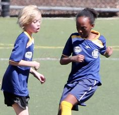 Brad Pitt and Angelina Jolie affectionate at Shiloh and Zahara's soccer game Lainey Gossip Entertainment Update
