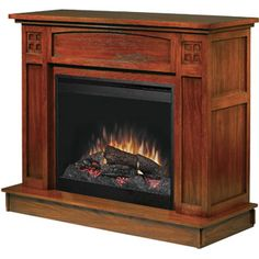 "Dimplex 26"" Electric Flame Fireplace, Mission Oak"