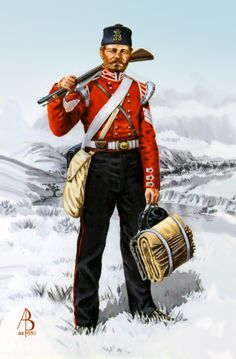 A British soldier of the Light Division during the Crimean War