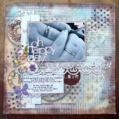 Scrap booking tips that the least creative people could rely on! Don't be afraid of your wedding pictures! #scrapbooking #wedding #scrapbook