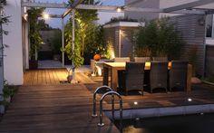 osvětlení zahradního posezení / lighting of garden seating area