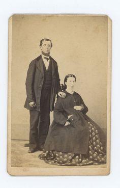 1866 JUNE 12th CDV PHOTO OF MR. & MRS. SWORDS, BY MRS. R. A. SMITH CARLISLE, PA.