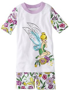 Tinker Bell Pajamas by Hanna Andersson #Disney #Organic #SuperCute #Tink