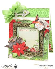 Scraps of Life: Graphic 45 - December Time to Flourish Project Sheet