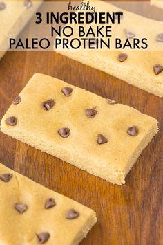 You only need three ingredients and less than five minutes to whip up these healthy no bake protein bars! Naturally gluten free, vegan and paleo! (I used just under 1 cup of almond milk and did include the almond butter) No Bake Protein Bars, Protein Snacks, Keto Snacks, Vegan Protein, Dairy Free Recipes, Paleo Recipes, Cooking Recipes, Cooking Stuff, Protein Recipes