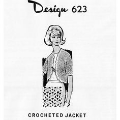 Plus Size Crochet Jjacket, with an open front and scalloped edges --sized for almost all women -- 32 to 46.   This pattern, in PDF format, is available at Vintage Knit Crochet Pattern Shop