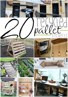20 Easy And Unique Recycled Pallet Ideas For The Home - - With imagination, you can create anything with pallets. I have a ton of pallet ideas for you to check out to be your next wood pallet project. Pallet Crafts, Diy Pallet Projects, Wood Projects, Woodworking Projects, Wooden Pallet Ideas, Pallett Ideas, Pallet Ideas Easy, 1001 Palettes, Diy Hanging Shelves