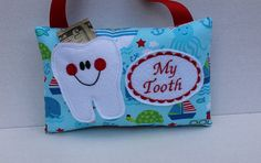 Personalized Tooth Fairy Pillow  Baby Tooth  Boys Tooth