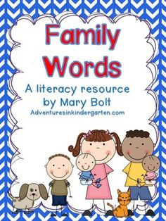 Family Themed Word Cards and Word Walls in English and Spanish Vocabulary Cards, English Vocabulary, Preschool Spanish, All About Me Activities, Teaching Themes, Family Theme, Word Walls, Family Matters, Word Families