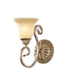 Ivory Glass Shade Iron Wall Sconce