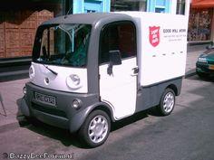 Elektromobil der Heilsarmee in den Niederlanden