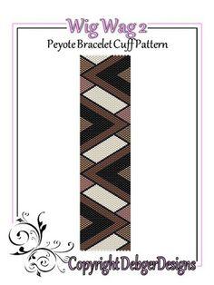 Wig+Wag+2+-+Beaded+Peyote+Bracelet+Cuff+Pattern