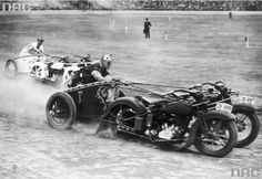 New South Wales (Australia) Police Motorcycle Chariot races at the 1936 Police Carnival. http://ift.tt/2vtrgL1