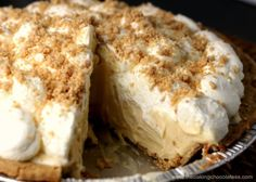 might leave off top cream and drizzle with Tablespoons butter cup semisweet chocolate chips. It's very rich. Peanut Butter Cream Pie, Peanut Butter Desserts, Butter Pie, Amish Butter, Butter Tarts, Just Desserts, Delicious Desserts, Yummy Food, Lemon Desserts