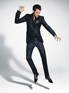 Black, suit, shirt