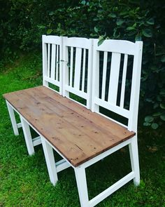 Sitting Bench, Porch Ideas, Picnic Table, Outdoor Furniture, Outdoor Decor, Clever, Diy Crafts, Home Decor, Antique Furniture