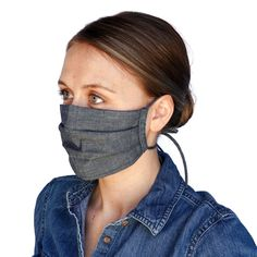 While you can make a face mask with things you already have at home, many of our favorite retailers are selling their own fabric face masks right now. Ticking Stripe, Fashion Face Mask, Ear Loop, Tie Backs, Face Shapes, Go Shopping, Eyewear, Filters, Stylish