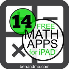 14 free math apps for ipad (plus 100+ more for other areas of your school/homeschool) #edapps #homeschool