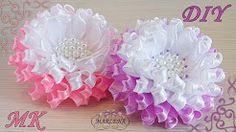 (2) Kanzashi flores de una cinta estrecha. DIY MARLENA-Hand Made - YouTube