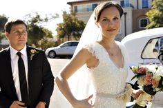 THAT dress. And bouquet.     Real Wedding: Laura & Chris - The Bride's Cafe