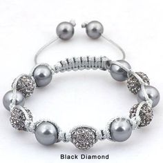 Hot-Beautiful-Grey-Crystal-Disco-Beads-Natural-Shell-Pearl-Adjustable-Shamballa-Bracelet-Handmade-Jewelry.jpg (500×500)