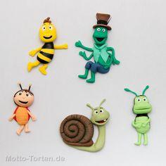Na okupu Bee Cakes, Biscuit, Fondant Tutorial, Fondant Flowers, Miniature Crafts, Pasta Flexible, Birthday Cake Toppers, Clay Art, Felt Crafts
