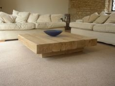 *SPECIAL OFFER* Cube Based Coffee Table - Rustic Oak Furniture
